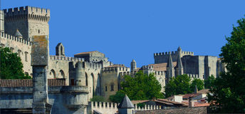 Palast Papstes von Avignon Stockfotos