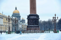 Palast-Quadrat in St Petersburg Stockfotos