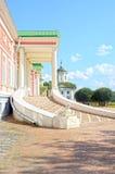 Palast-Russlands Moskau Haus des Sphinxtreppenhauses stellt großer Ensemble Kuskovo-Zustand Sheremetevs-18. Jahrhundert grafisch  Stockfoto