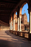Palast-Säulengang auf dem Spanien `s Quadrat Stockfotos
