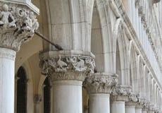 Palast-Säulengang des Doges Stockbild
