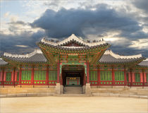 Palast in Südkorea Stockbild