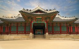 Palast in Südkorea stockbilder