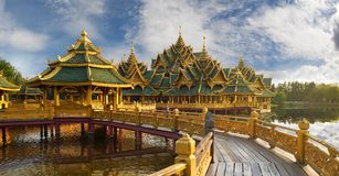 Palast Sanphet Prasat, altes Cityf Bangkok Lizenzfreies Stockbild