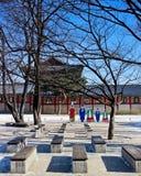 Palast Standy - Gyeongbokgung Stockbild