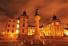 Palast in Stockholm stockbilder
