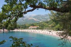 Palast Sveti Stefan, Montenegro Stockfotos