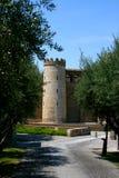 Palast Teil oa-Aljaferia in Zaragoza Stockfotos