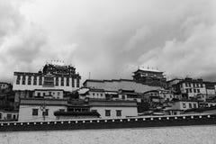 Palast in Tibet Stockbild