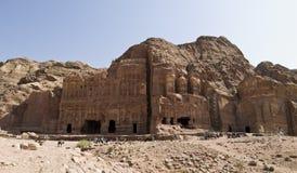Palast- und Korinthergrab, PETRA Jordanien lizenzfreie stockfotografie