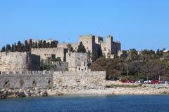 Palast van de ridders in Rhodos, Griekenland Royalty-vrije Stock Foto