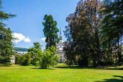 Palast vom La Granja de San Ildefonso, Segovia, Spanien Lizenzfreie Stockfotos