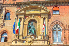 Palast von Accursio Bologne Lizenzfreie Stockfotos
