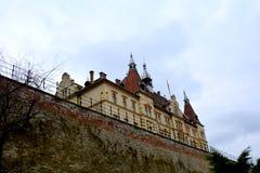 Palast von Baron von Brukenthal in der mittelalterlichen Stadt Sighisoara Lizenzfreie Stockfotos