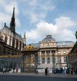 Palast von Gerechtigkeit und von heiliger Kapellenkirche Stockfoto
