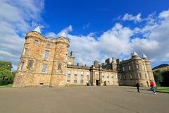 Palast von Holyroodhouse, Amtssitz der Königin in Scot Lizenzfreies Stockbild