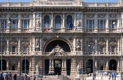 Palast von JusticePalazzo di Giustizia, Sitz des Obersten Gerichts der Aufhebung, Rom stockbilder