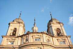 Palast von La Granja de San Ildefonso, Segovia, Spanien Lizenzfreies Stockfoto