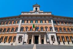 Palast von Montecitorio in Rom Stockfotografie
