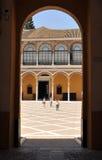 Palast von Peter 1, Alcazar königlich in Sevilla, Spanien Lizenzfreie Stockbilder