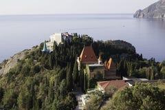 Palast von Prinzessin Gagarin am Kap Plaka. Krim. Ukraine lizenzfreie stockfotografie