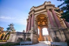 Palast von schönen Künsten in San Francisco Stockfotos