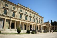 Palast von St Michael und von St George in Korfu Lizenzfreies Stockbild