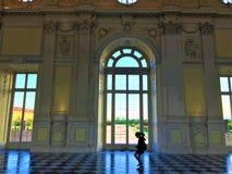 Palast von Venaria, königlicher Korridor Stockbilder