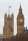 Palast von Westminster mit Big Ben lizenzfreies stockfoto
