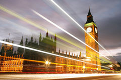 Palast von Westminster nachts Lizenzfreie Stockfotografie