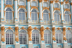 Palast Windows Lizenzfreie Stockfotografie