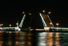 Palastbrücke in St Petersburg Lizenzfreie Stockfotografie