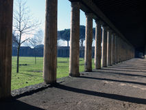 Palastera of Iuventus Pompeiana. View to central courtyard of Palastera of Iuventus Pompeiana in Pompeii. This courtyard was used by the romans as an exercise Royalty Free Stock Photos