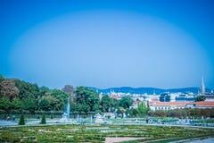 Palastgarten von Belvedere in Wien, Österreich stockbild