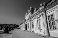 Palastgarten von Belvedere in Wien, Österreich lizenzfreie stockfotografie