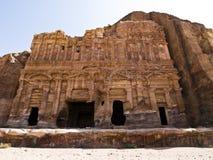 Palastgrab, PETRA Jordanien lizenzfreie stockbilder