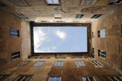 Palasthof in Cortona, Toskana Italien stockfotografie