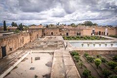 Palastruinen in Marrakesch Stockbild