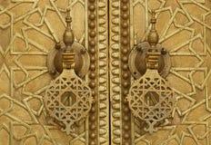 Palasttür in Fez Lizenzfreie Stockbilder