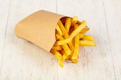 Palatable french fries. With salt royalty free stock image