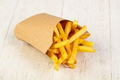 Palatable french fries. With salt royalty free stock photography