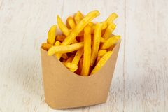 Palatable french fries royalty free stock image