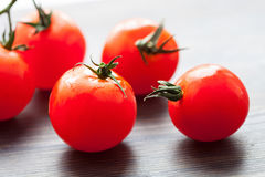 Palatable fresh tomatoes royalty free stock images