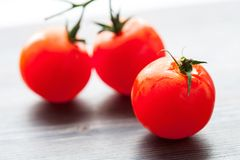 Palatable fresh tomatos stock photography