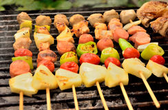 Palatable pork barbeque Stock Photos