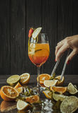 Palatable Tequila Sunrise. Perfect alcohol drink for those, who want to relax on friday night, after hard work royalty free stock images