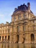 Palate of Louvre in Paris. A view of a part of the Palate of Louvre in Paris royalty free stock image