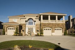 Palatial home in Nor Cal stock photo