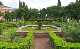 Palatine小山的庭院在罗马在意大利 免版税库存图片