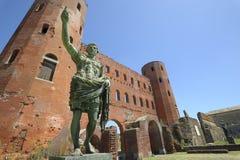 Palatine del porte di Torino Immagine Stock